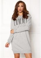Tommy Hilfiger Denim Hknit Dress Light Grey Htr Xl