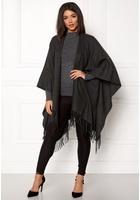 Only Jaya Weaved Poncho Dark Grey Melange One Size