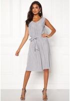 Vila Pliss S/l Dress Light Grey Melange S