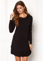 Vero Moda Annika Ls Ruffle Dress Black Beauty Xs