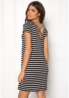 Only Bera Back Lace S/s Dress Black Stripes Xs