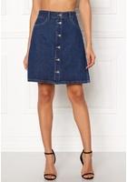 Only Farrah Reg Denim Skirt Dark Blue Denim 34