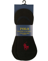 Polo Ralph Lauren 3-pack No Show Big Pony Pony Socks Black