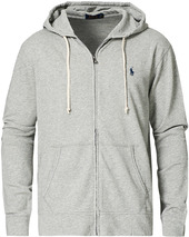 Polo Ralph Lauren Full Zip Hoodie Light Grey Heather