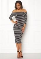 Jacqueline De Yong Kenya 3/4 Dress Black Xs