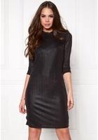 Object Lotus 3/4 Long Dress Black Xs