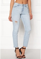 Jacqueline De Yong Silver Boyfriend Jeans Light Blue Denim 28/32