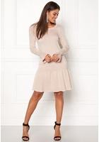 Vila Vicka L/s Knit Dress Peach Whip L