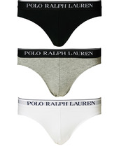 Polo Ralph Lauren 3-pack Low Rise Brief Black/white/grey