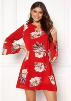 Sisters Point Glans-8 Dress 501 Red/flower Xs