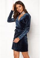 Vila Velvetine Short Dress Total Eclipse M