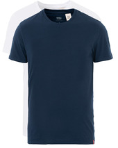 Levi's Slim 2-pack Crew Neck Tee Navy/white