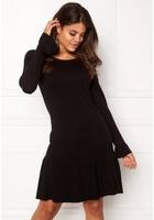 Vila Vicka L/s Knit Dress Black Xl