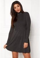 Only Alma L/s Dress Dark Grey Melange M