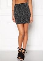 Vila Vala New Zigzag Skirt Black S