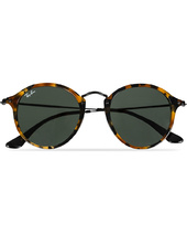Ray-ban Rb2447 Acetat Round Sunglasses Spotted Black Havana/green