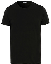 Filippa K Roll Neck Crew Neck Tee Black