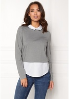 Vero Moda Cindy Ls Shirt Top Medium Grey Melange M