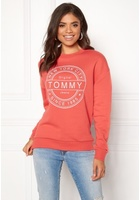 Tommy Jeans Lux Logo Sweatshirt 689 Spiced Coral S