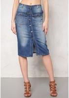 Object Seven Denim Skirt Medium Blue Denim 34