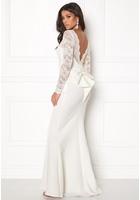 Goddiva Open Back Lace Dress White M (uk12)