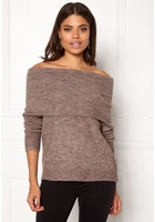 Only Bergen L/s Off Shoulder Deep Taupe S