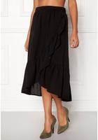 Vila Dama Flounce Midi Skirt Black M