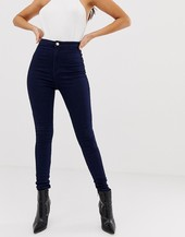 Missguided Vice High Waisted Super Stretch Skinny Jean In Navy