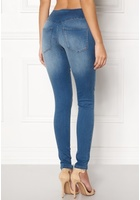 Pieces High Shape-up Jeggings Medium Blue Denim Xs