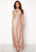 Vero Moda Lizzie Wrap Maxi Dress Rose Dust M