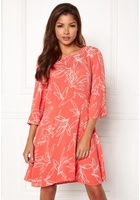 Vila Mimira 3/4 Sleeve Dress Spiced Coral L