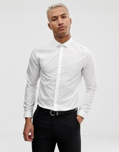 Burton Menswear Skinny Fit Shirt In White