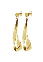 Dyrberg/kern Arc Shiny Earrings Gold One Size