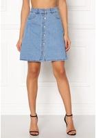 Only Farrah Reg Denim Skirt Light Blue Denim 34