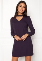 Vero Moda Chiara Ls Choker Dress Nightshade M