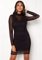 Vero Moda Kira Ls Mesh Short Dress Black S