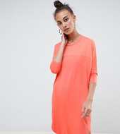 Asos Tall Oversize T-shirt Dress With Seam Detail-pink