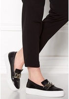 Billi Bi Leather Sneakers Black 39