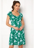 Happy Holly Tessan Dress Green / Offwhite 52/54