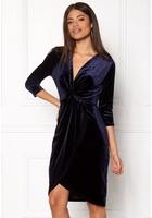 Dry Lake Angelina Dress Navy Velvet Xl