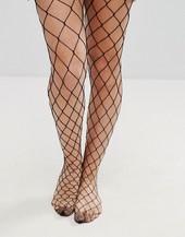 Asos Design Oversized Fishnet Tights-black