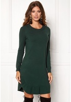 Vero Moda Annika Ls Ruffle Dress Green Gables S