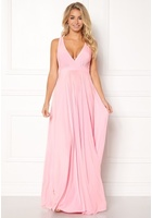 Goddiva Pleated Oscar Dress Pink S/m