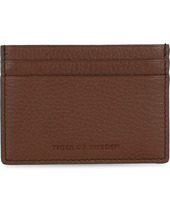 Tiger Of Sweden Wake Grained Leather Cardholder Brown