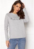 Jacqueline De Yong Brianna L/s Crop Sweat Light Grey Melange M