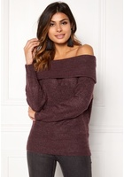 Jacqueline De Yong Alice L/s Off Shoulder Vineyard Wine L